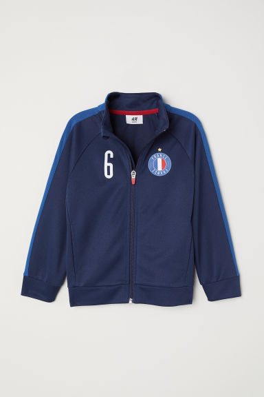 Football jacket - Dark blue/France - Kids | H&M