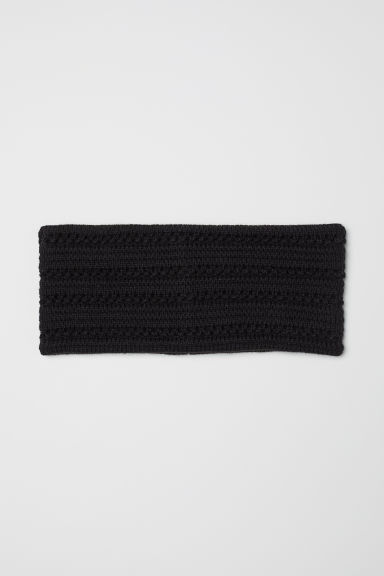 Textured-knit headband - Black - Ladies | H&M CN