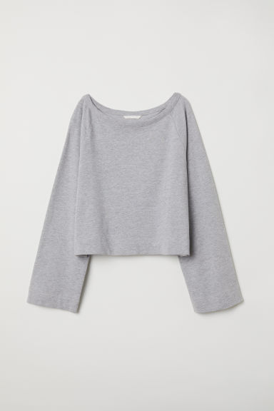 Wide sweatshirt - Light grey marl - Ladies | H&M CN