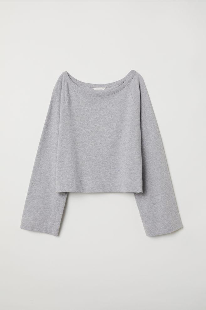 Wide Cut Sweatshirt Light Gray Melange Ladies Hm Us