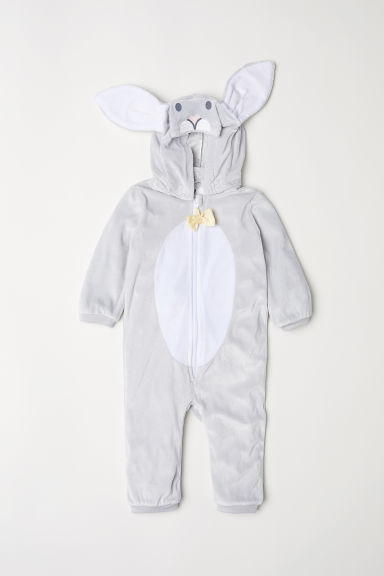 Rabbit all-in-one suit - Light grey/Rabbit - Kids | H&M