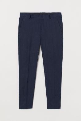 5810922e1b Slim Fit Linen Suit Pants
