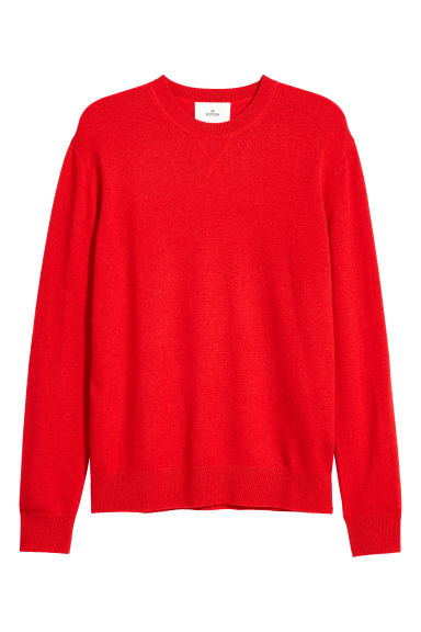 Cashmere jumper - Bright red - Men | H&M
