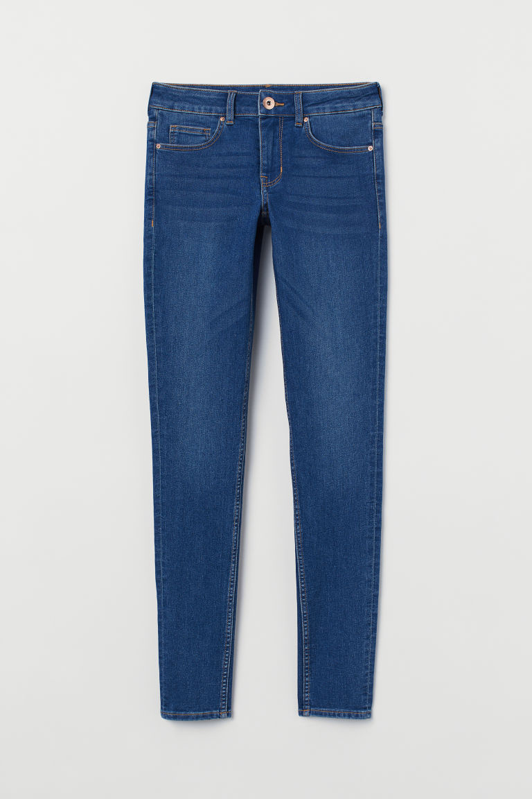 Super Skinny Regular Jeans - 蓝色 -  | H&M CN