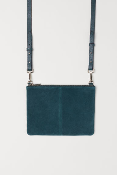 Small bag with suede details - Dark green -  | H&M CN