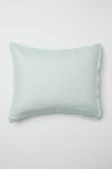 Washed linen pillowcase - Dusky green - Home All | H&M GB