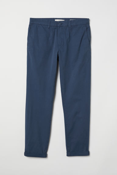 Cotton chinos Slim fit - Blue - Men | H&M CN