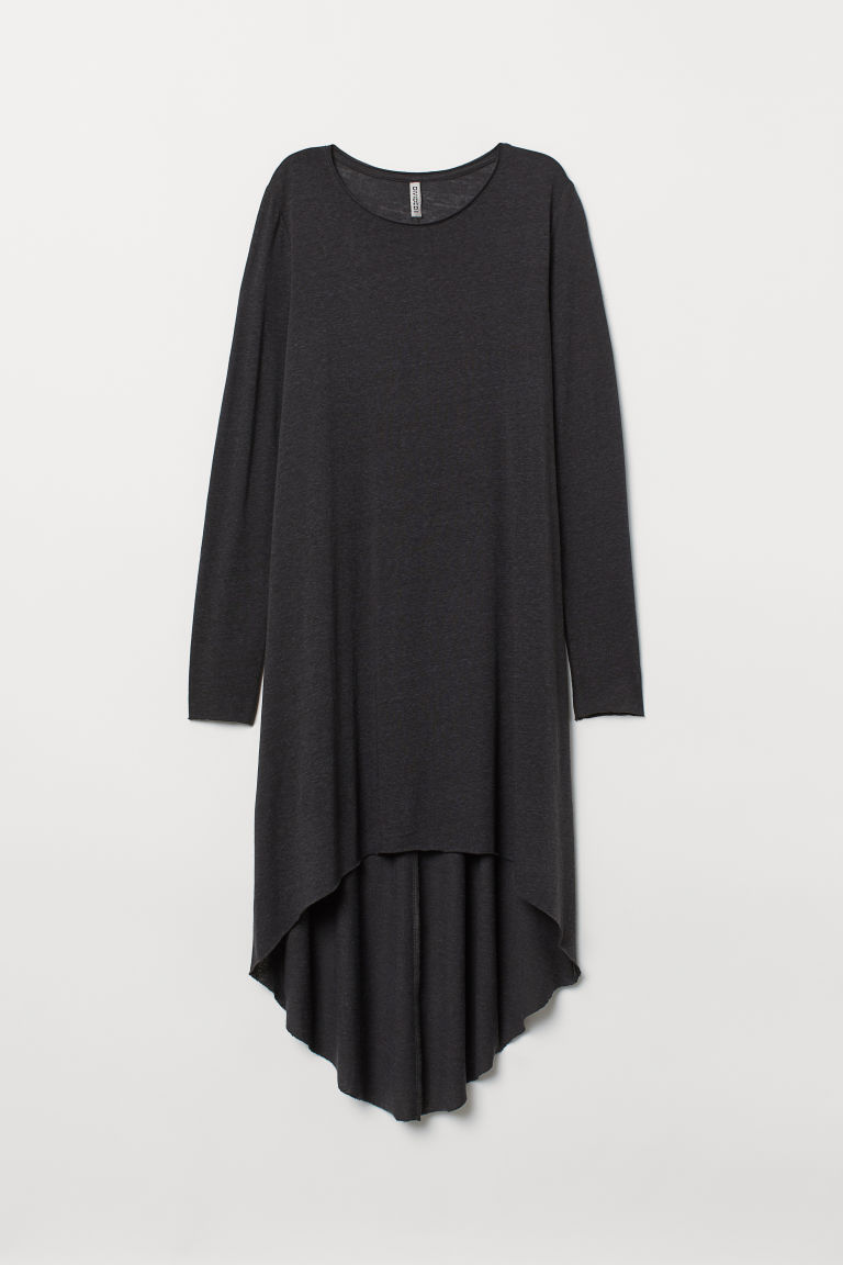 Asymmetric dress - Black - Ladies | H&M
