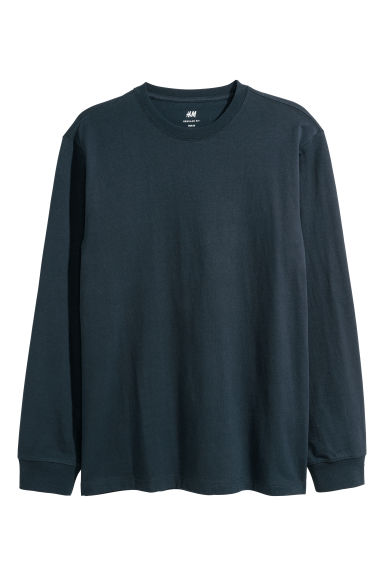 Jersey top Regular fit - Dark blue -  | H&M