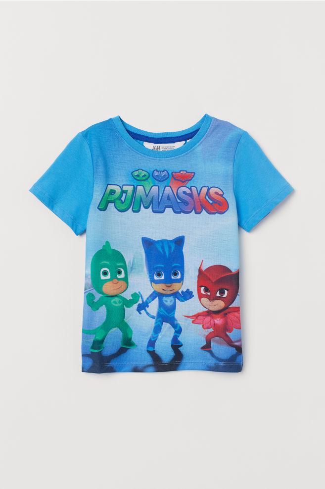 2b6d0be96 T-shirt with Printed Design - Bright blue/PJ Masks - Kids | H&M CA