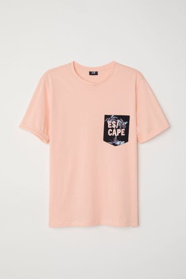T-shirt in cotone - Pesca/Es cape - UOMO | H&M IT