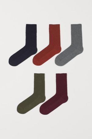 5-pack ribbed socksModel