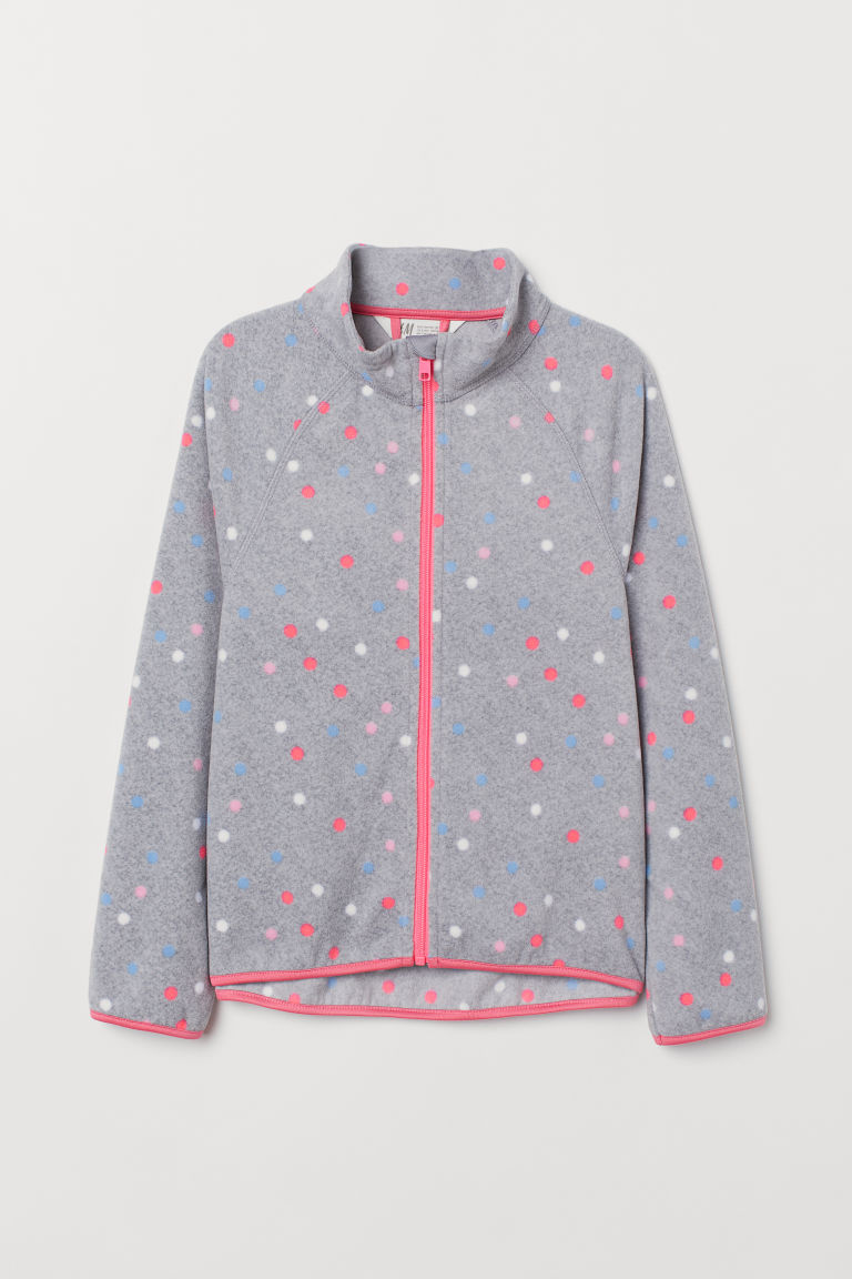 Giacca in pile - Grigio/pois - BAMBINO | H&M IT
