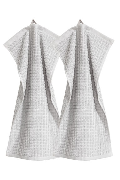 2-pack guest towels - Light gray -  | H&M IE