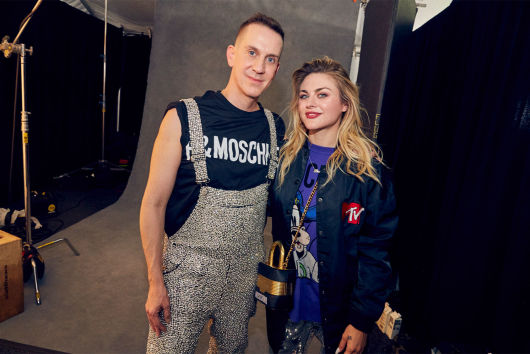 Jeremy Scott and Francis Bean Cobain