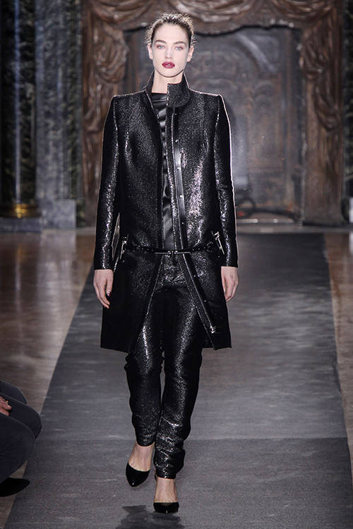 Crista Cober for Anthony Vaccarello A/W 2013, Getty Images.