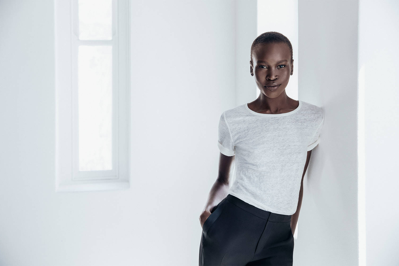 "Model, author and activist Alek Wek is an ambassador for H&M Conscious Foundation. ""Having walked for thousands of miles looking for safety I thought: this is it. This is my chance and fashion should represent all the different beauties of women"", she says about her career."