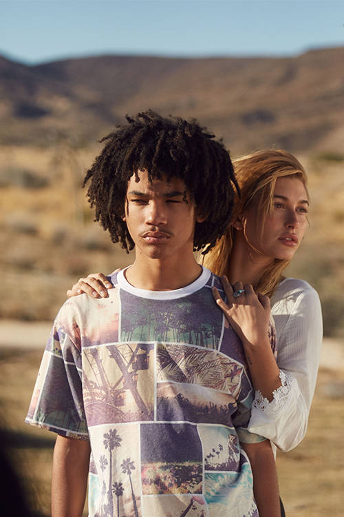 Hailey Baldwin and Luka Sabbat are both part of the H&M squad at Coachella this year.