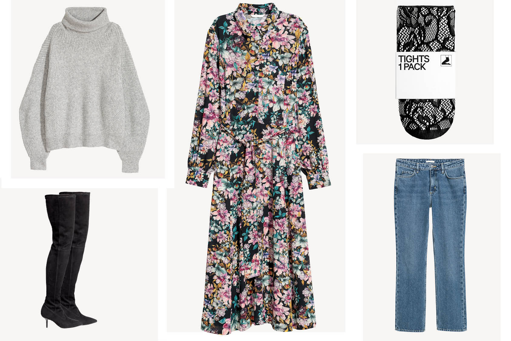 What to wear with winter florals