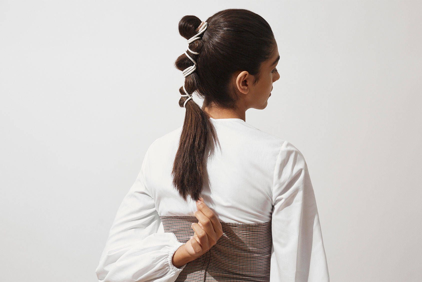 The clever way to update your ponytail