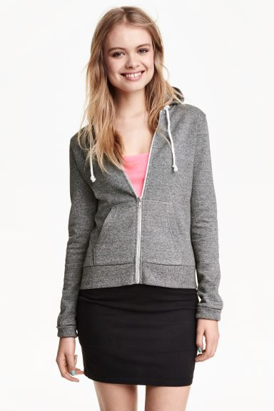 Hooded jacket - Dark grey - Ladies | H&M GB