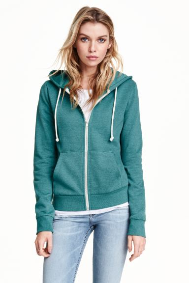 Hooded jacket - Light petrol - Ladies | H&M GB