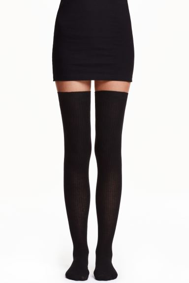 Thigh-high over-the-knee socks - Black - Ladies | H&M IE