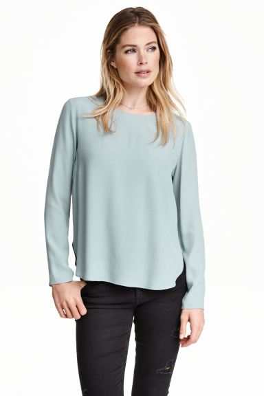 Crêpe blouse - Light turquoise - Ladies | H&M GB
