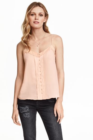 Chiffon top - Powder - Ladies | H&M GB