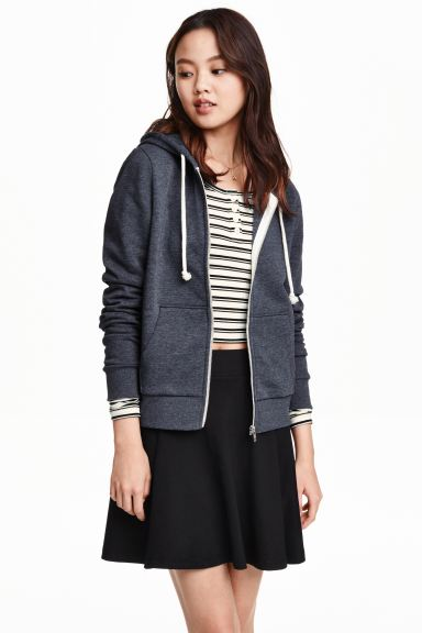 Hooded jacket - Dark blue - Ladies | H&M GB