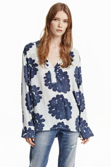 Patterned blouse - White - Ladies | H&M GB