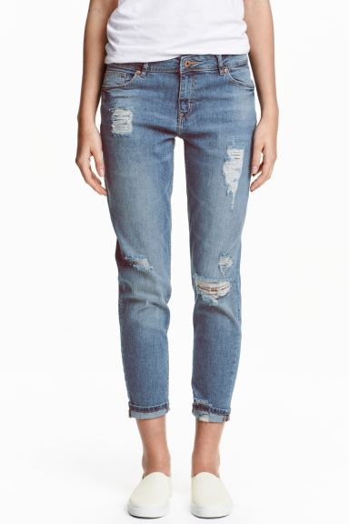 Boyfriend Slim Low Jeans - Denim blue - Ladies | H&M GB