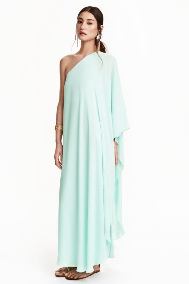 Long chiffon dress - Mint - Ladies | H&M GB