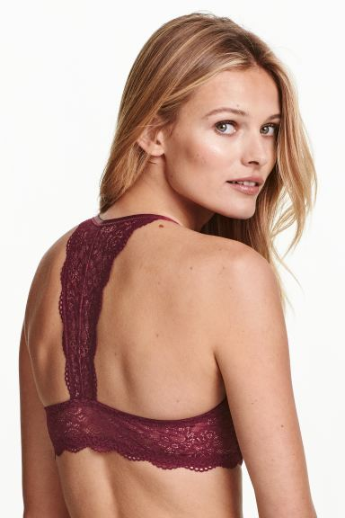 Super push-up bra - Burgundy - Ladies | H&M GB
