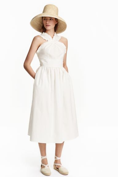 Cotton dress - White - Ladies | H&M GB