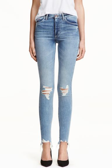 Skinny High Ankle Jeans - Azul denim claro - MUJER | H&M ES