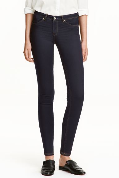 Super Soft Low Jeggings - Denim azul oscuro/Raw - MUJER | H&M ES