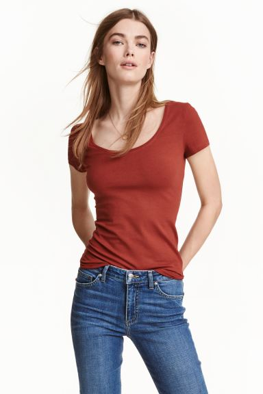 T-shirt in jersey - Ruggine - DONNA | H&M IT