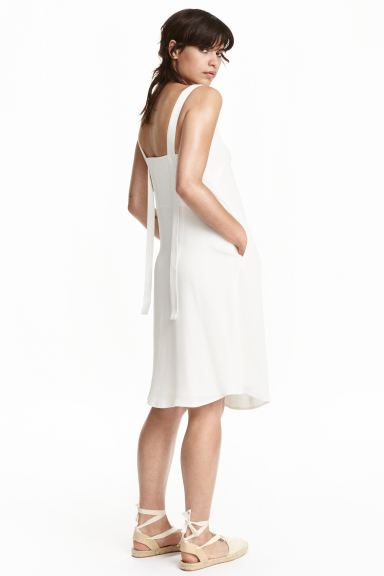 V-neck dress - White - Ladies | H&M GB