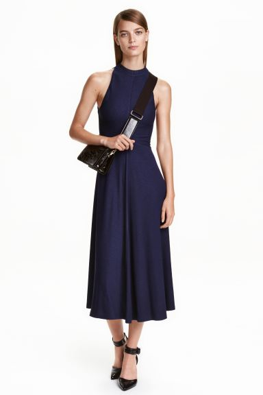 Sleeveless dress - Dark blue - Ladies | H&M GB