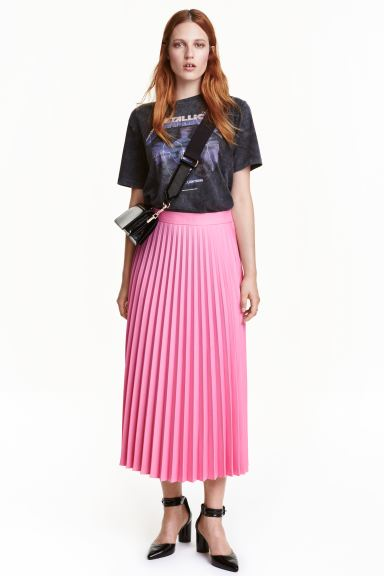 Pleated skirt - Pink - Ladies | H&M GB