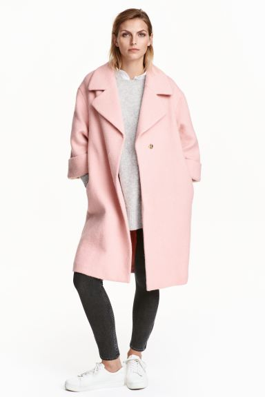 Coat in a wool blend - Light pink - Ladies | H&M GB