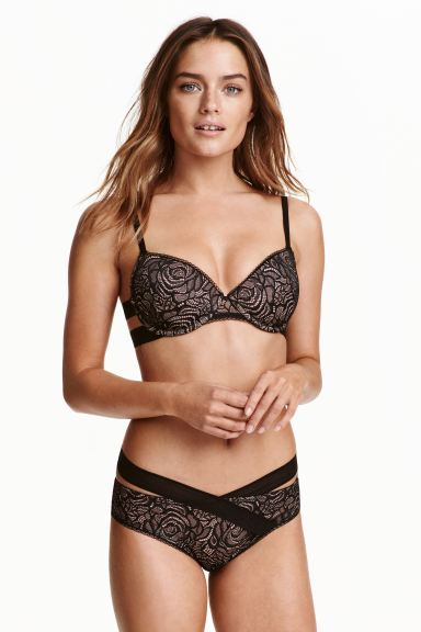 Lace briefs - Black/Powder - Ladies | H&M GB