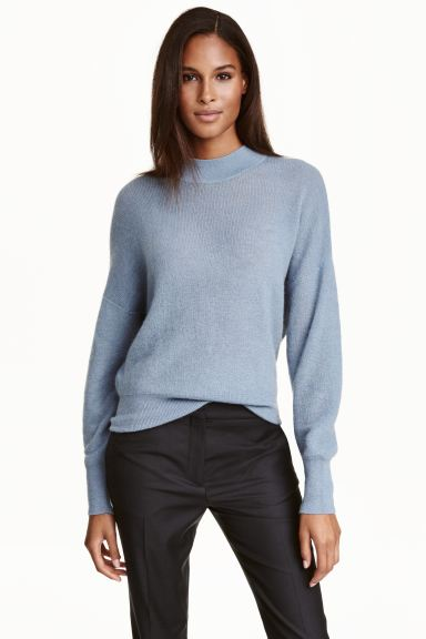Mohair-blend jumper - Light blue - Ladies | H&M GB