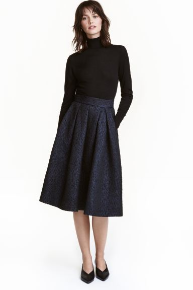Bell-shaped skirt - Dark blue/Black - Ladies | H&M IE