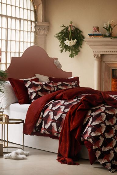 Set copripiumino in satin - Rosso - HOME | H&M IT