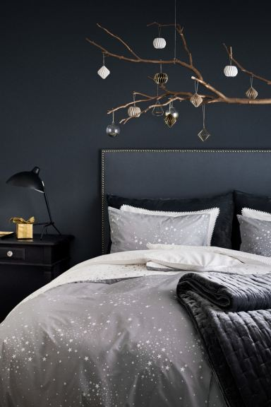 Patterned duvet cover set - Grey/Stars - Home All | H&M GB