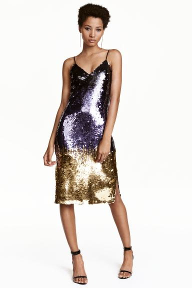Abito con paillettes - Viola/dorato - DONNA | H&M IT