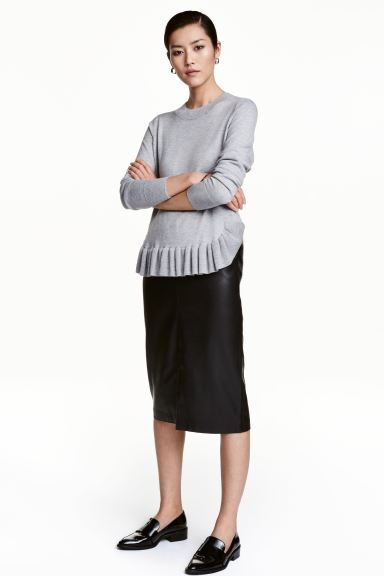 Imitation leather pencil skirt - Black - Ladies | H&M GB