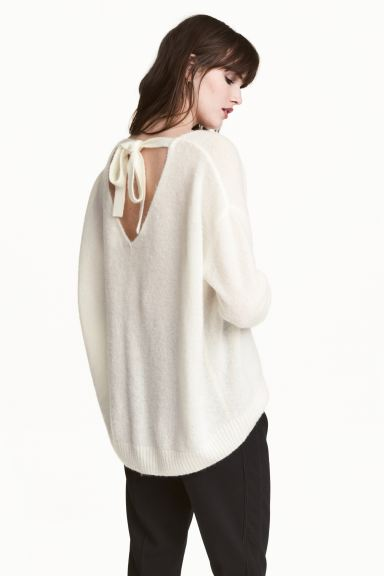 Knitted jumper - White - Ladies | H&M GB